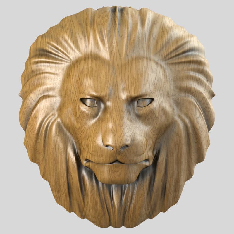 3d max lion head