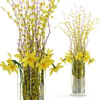 3d bouquet spring model