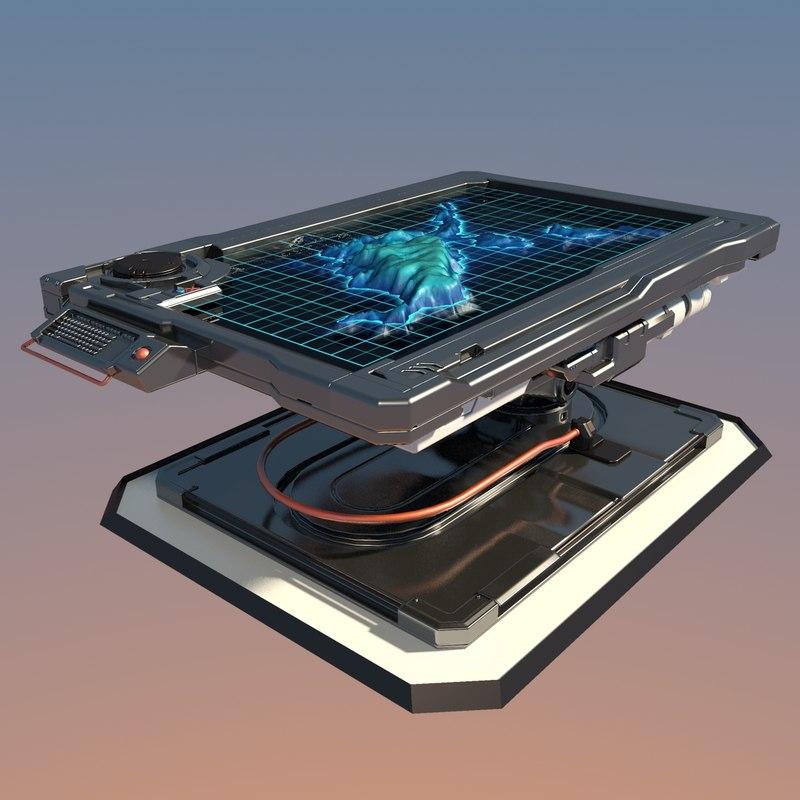 3d model futuristic table 2