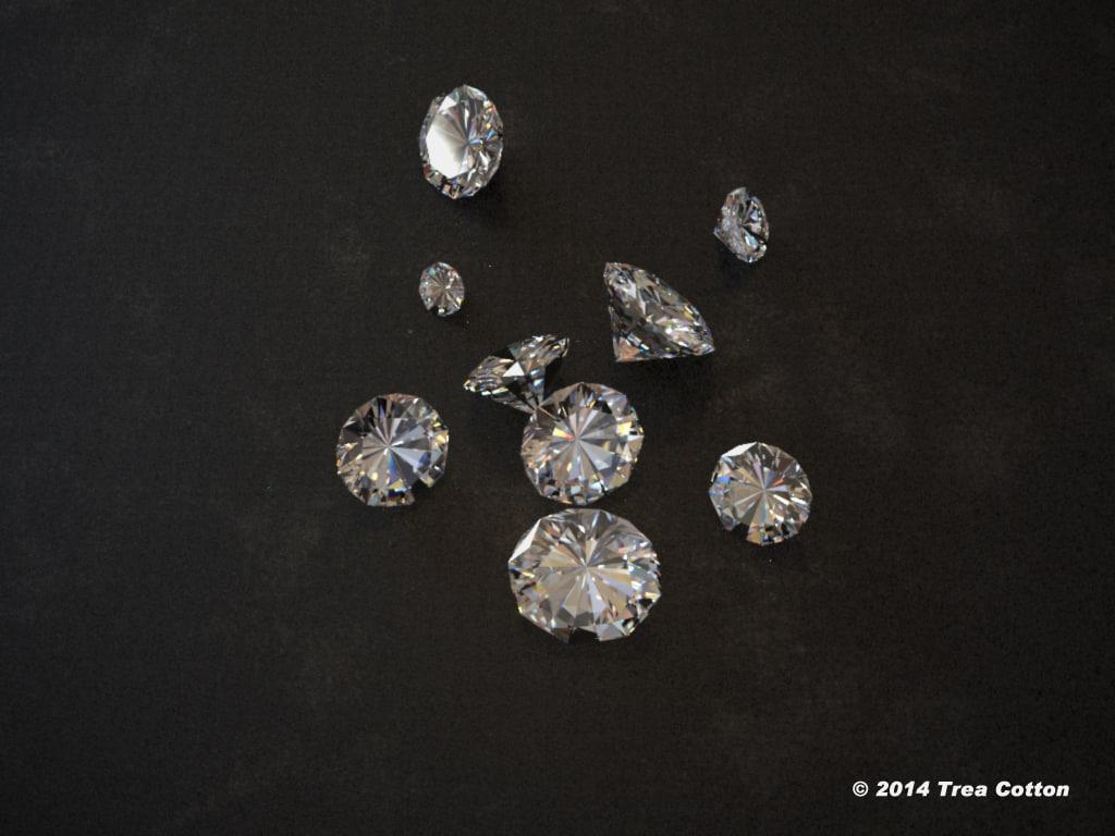 diamonds photoreal 3d model