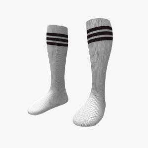3d socks modelled model