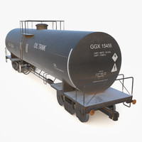 3d oil wagon model