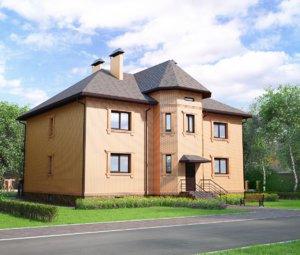 3d model brick house