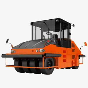 3d asphalt roller model