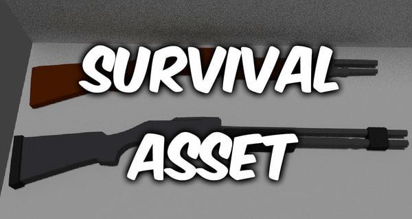 3d model of survival asset complite edition