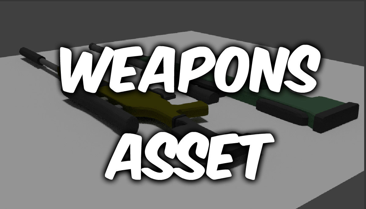 3d model weapons asset