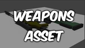 3d model weapons asset