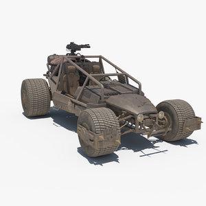 3d model death rally buggy