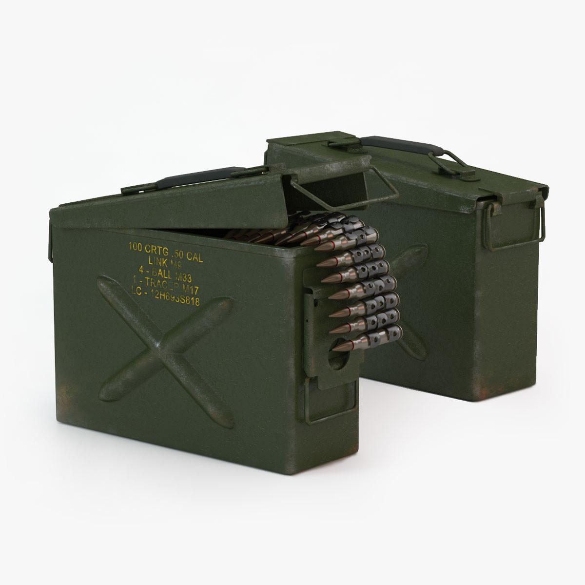 ammunition case 3d max