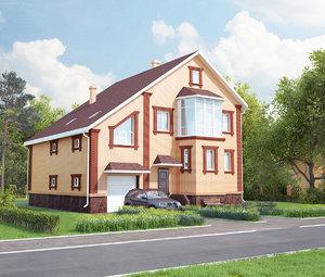3ds max brick house