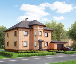 3dsmax brick house