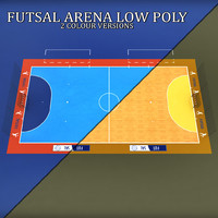 Futsal court arena low poly