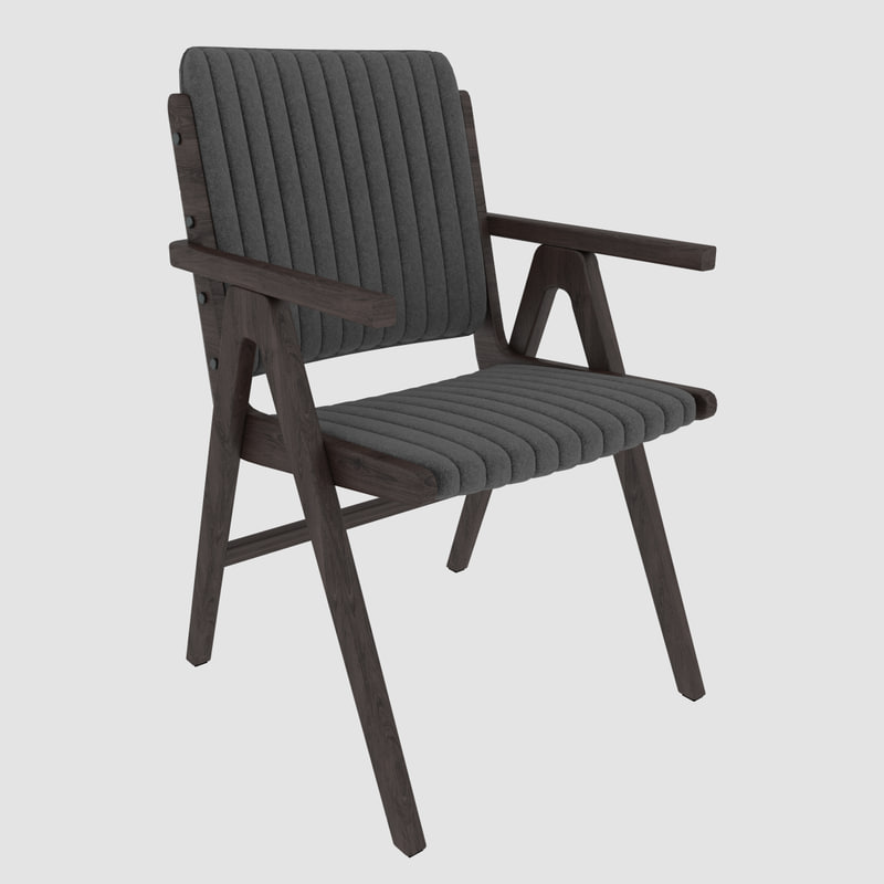 wooden design chair modern 3d model