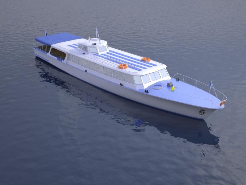 3ds max czech cruise boat orlik
