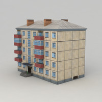 Lowpoly city building 2
