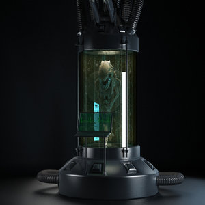 3d model cryogenics chamber sci fi