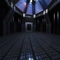 sci fi scene interior 3d model