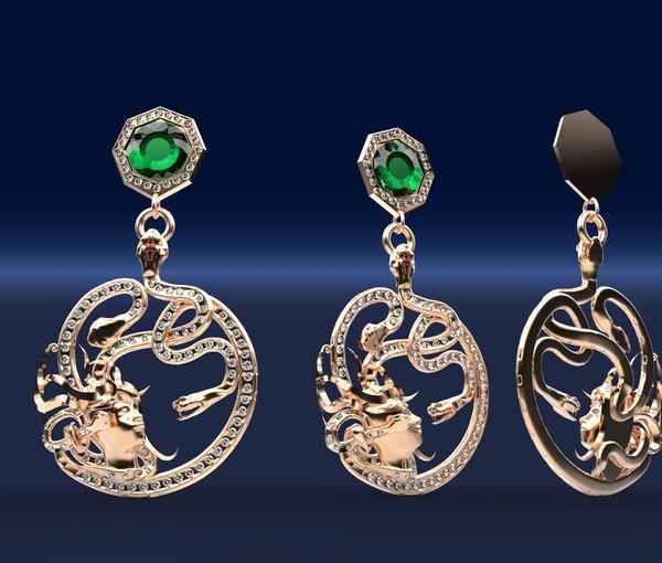 3d model gorgona pendant jewelry