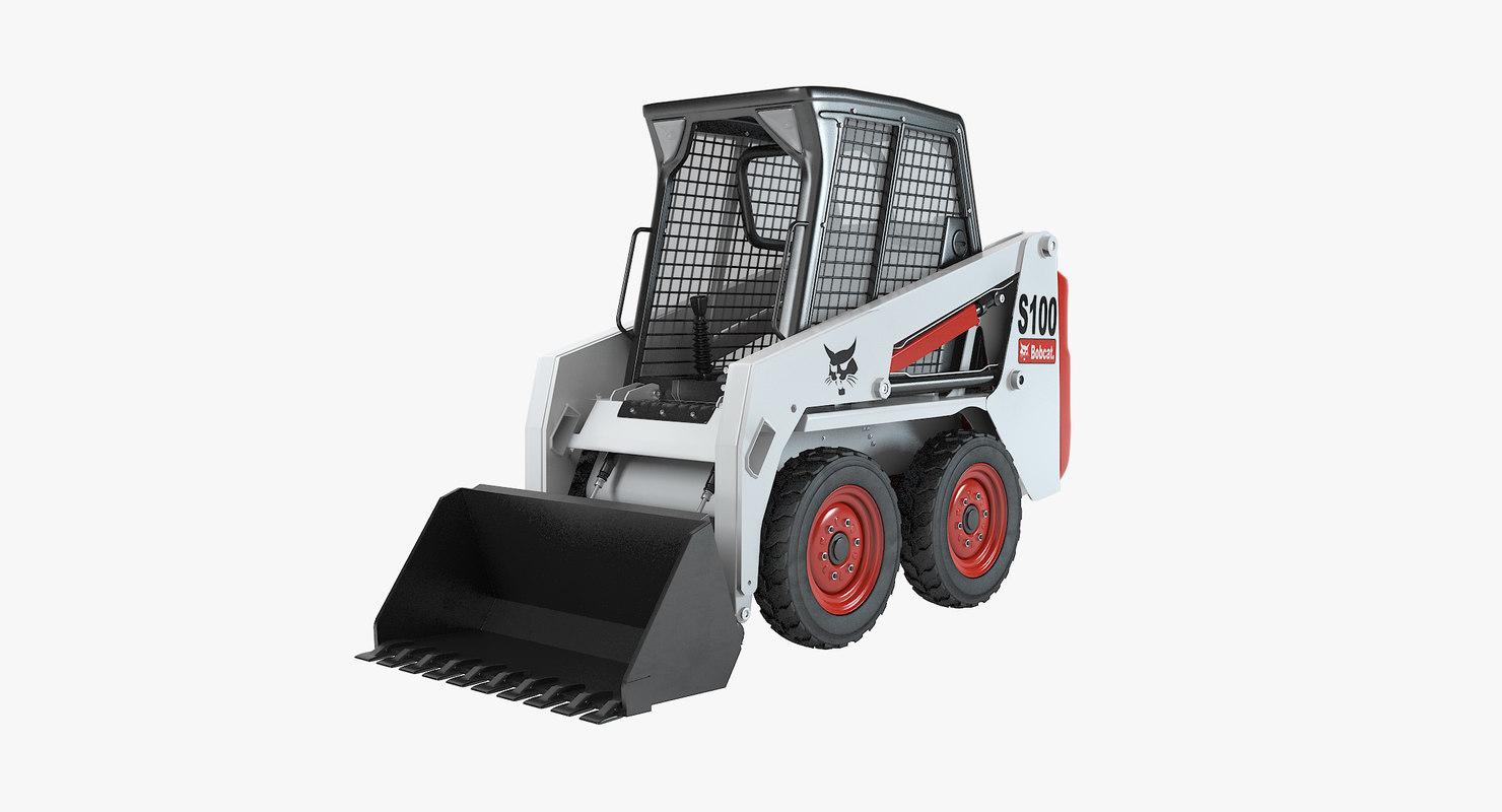 bobcat skid-steer loader 3d model