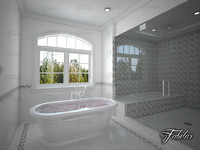 bathroom scene 3d max