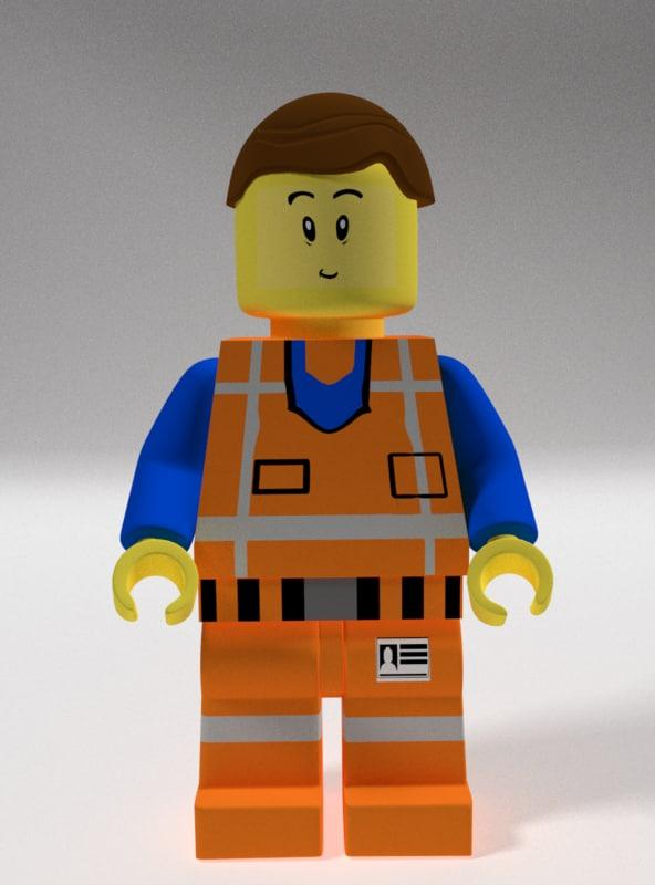 emmet lego 3d model