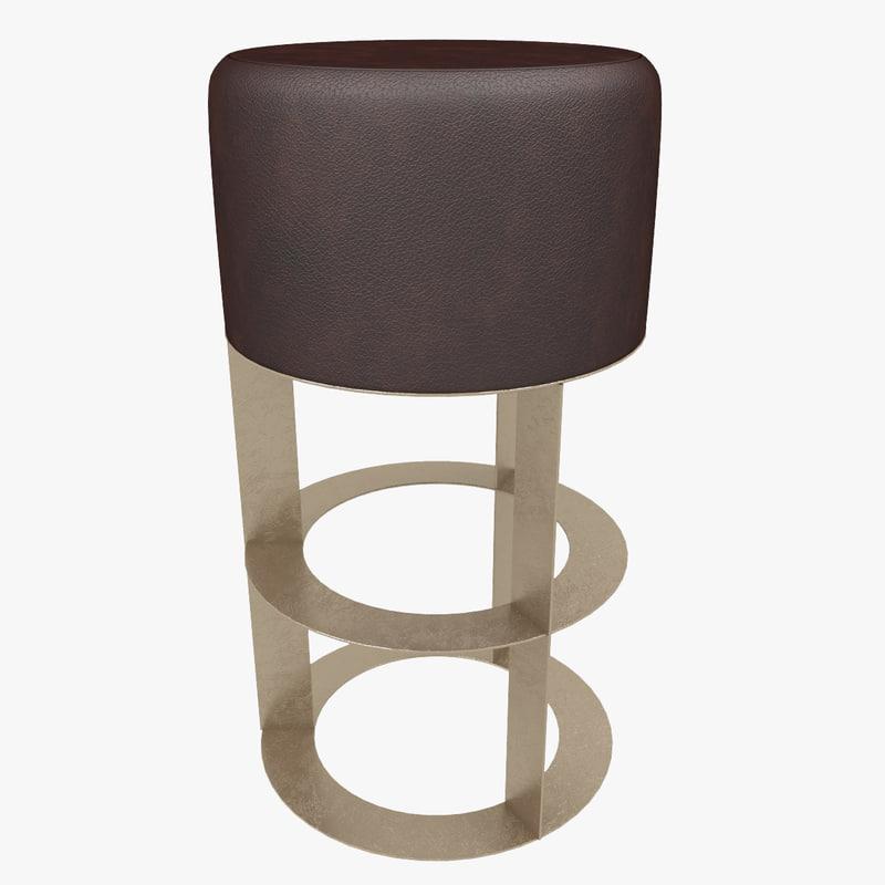 barstool stool 3d max