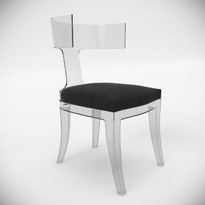 3d interior saturn chair seat