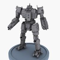 3d robot concept model