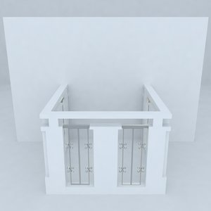 3d french balcony