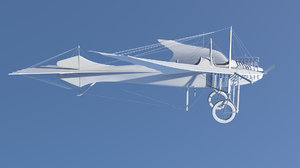 taube airplane 3d x