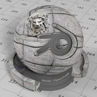 Stone Block Lion 1