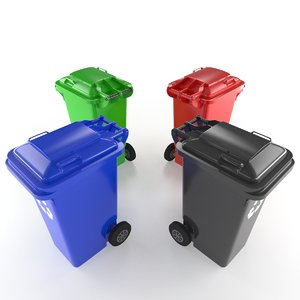 3d trash trashcan model