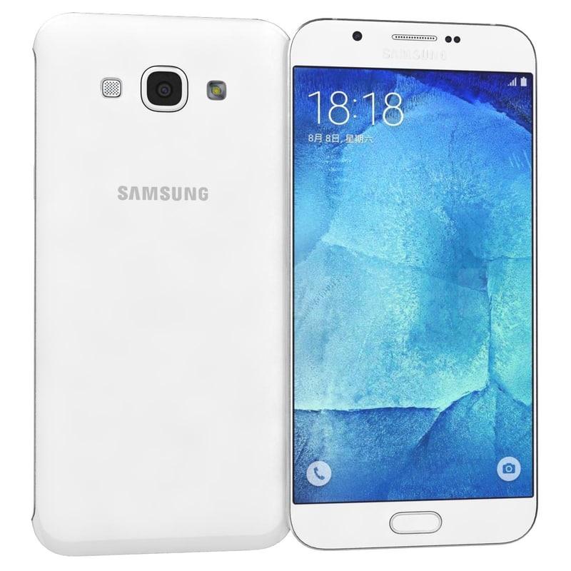 samsung galaxy a8 white 3d model
