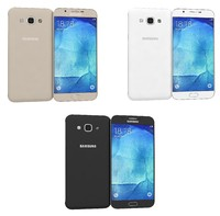 samsung galaxy a8 colors 3d 3ds