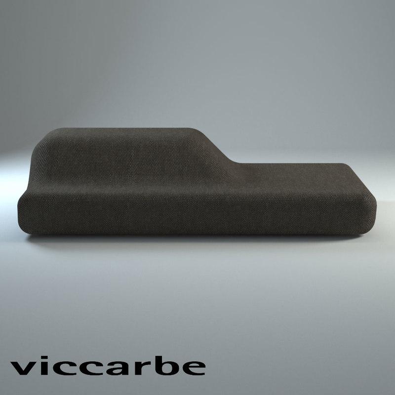 3d bench furniture model