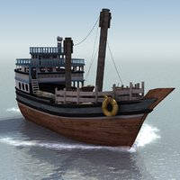 arab fishing boat 3d model