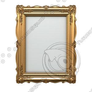 3d model vintage picture frame