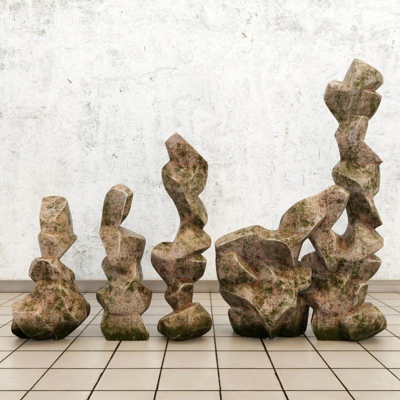 stone monuments 3d model