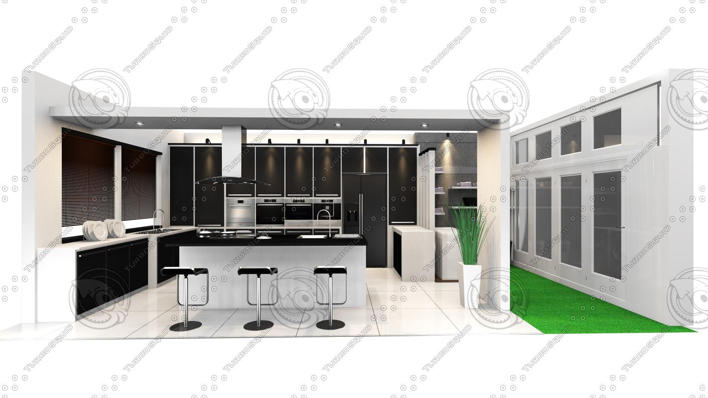 3d kitchen bangalow
