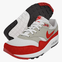 Nike AirMax 1 (Red/White)
