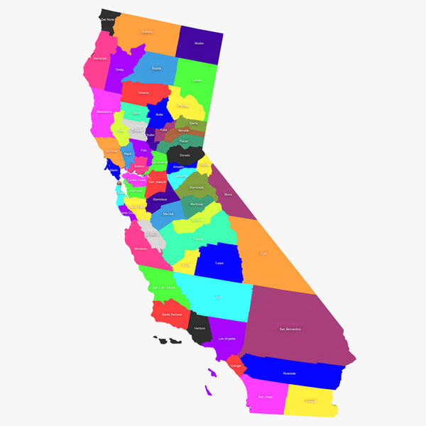 california counties 3d 3ds