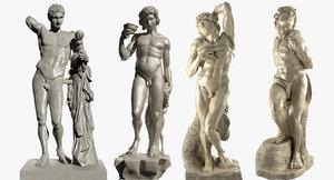 statue 3 3d model