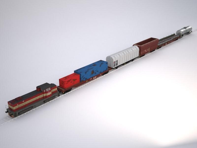 3d model goods train