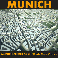 city munich center 3d max
