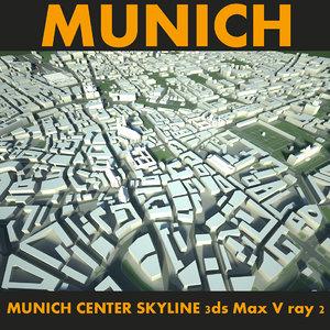 city munich center 3d max