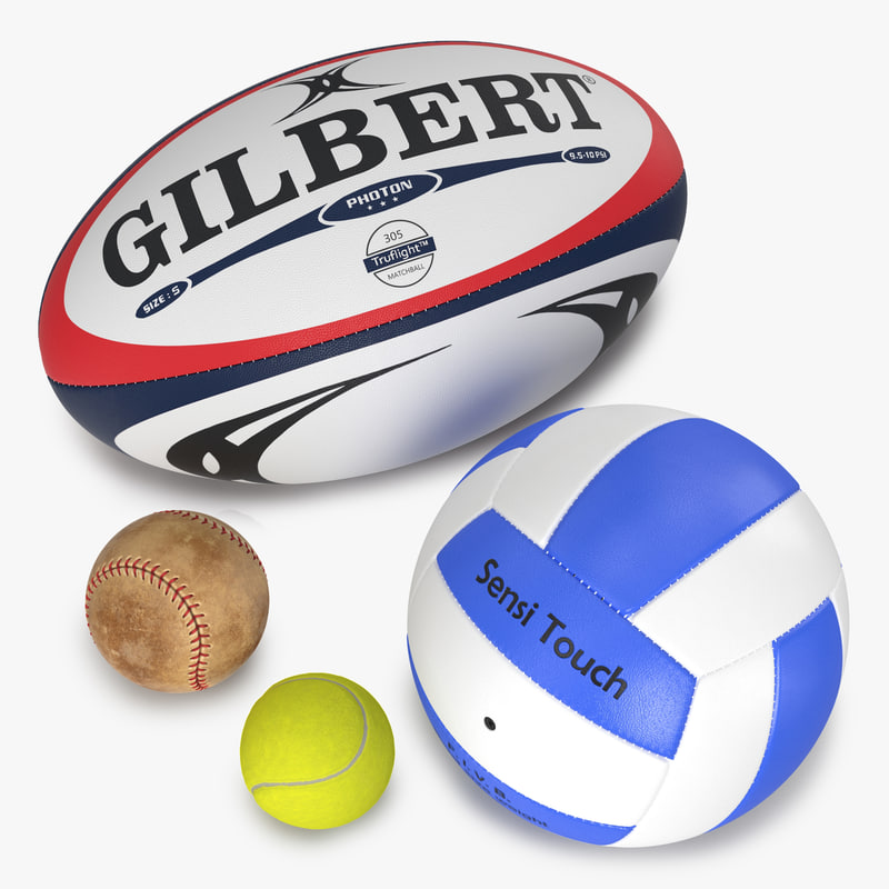 3ds sport balls tennis baseball