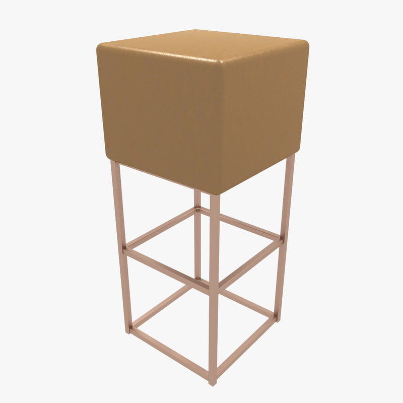 free barstool v-ray 3d model