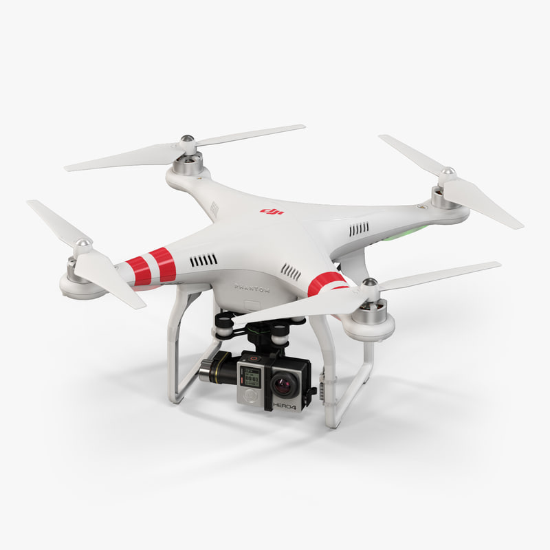 3d dji phantom 2 quadcopter