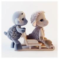 goat sheep toy 3d model