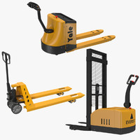 Pallet Jacks 3D Models Collection